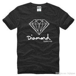 T Shirt Cotton Sport Fashion Australia - New Summer Cotton Mens T Shirts Fashion Short-sleeve Printed Diamond Supply Co Male Tops Tees Skate Brand Hip Hop Sport Clothes