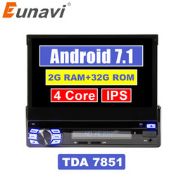 "$enCountryForm.capitalKeyWord Australia - Eunavi Single 1 Din 7"" Android 7.1 Quad core Car PC Radio Stereo GPS Navigation Universal 1024*600 HD Head Unit Wifi USB NO DVD car dvd"