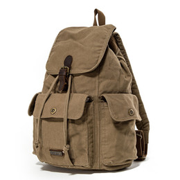 $enCountryForm.capitalKeyWord Canada - 2019 New Arrival Men's Retro Backpack Vintage Canvas Travel Backpack Classic School Bag Men's Travel Bag Large Capacity Rucksack