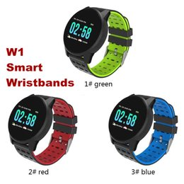 Smart Watches For Windows Australia - W1 Smart Watch SW-W1 Bluetooth Wireless Smart Bracelet with Heart Rate Calling Message for Apple IOS Android Cellphones with Retail Box