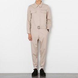 Man Fashion Jumpsuits Australia - Wholesale-2016 autumn new men jumpsuit male long sleeved cargo pant a piece pants overalls Tooling hip-hop casual fashion trousers A93