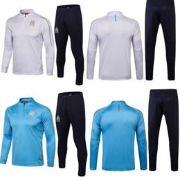 Soccer Team Club Jersey UK - Marseille 2018 season jersey sportswear long sleeves training suits THAUVIN L.GUSTAVO 18 19 football team uniforms club team custom sales