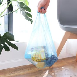 $enCountryForm.capitalKeyWord Australia - 20pcs roll Portable Handle Vest Style Garbage Bags Large Size Disposable Plastic Storage Bag for Office Home Kitchen Bedroom Accessories