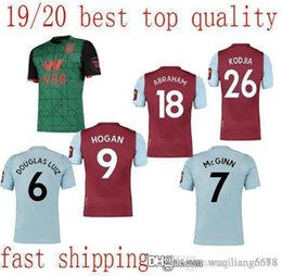 soccer aston villa UK - in stock Aston Villa soccer jerseys 2019 2020 home blue away third Wesley GREALISH EL GHAZI HUTTON McGinn Kodja football shirts camisetas