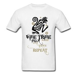 Unique Tee Shirt Designs Australia - Unique Summer Men White T-shirt Vibe Tribe Ibiza Sleep Eat Monkey Letter Cartoon Design Guys Funky Top Tee Shirts