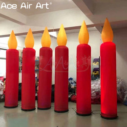 cheap wholesale inflatables UK - Cheap custom inflatable standing candle,lighting Candle with base fan free standing stage decoration by Ace Air Art
