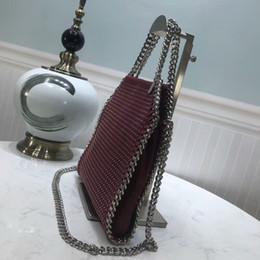 Luxury Chains Australia - Luxury Classic Famous Lady Genuine Leather Handbag Chain Shoulder Bags Women Rivet Chain Crossbody Bag Designer Handbags Messenger Purse