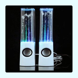 led dancing water wireless bluetooth NZ - LED Light Speakers Mini Computer Dancing Water Show Music Fountain For Laptop PC High Quality And Portable Gift for Friend