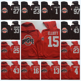 capucha ohio al por mayor-15 Elliott Ohio State Buckeyes Hoodie Bosa Carter Samuel C Jones Barrett B Miller NCAA College Jersey