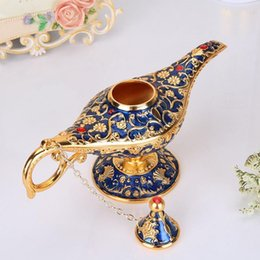 $enCountryForm.capitalKeyWord UK - High Quality Aladdin Magic Lamp Fairy Tale Magic Lamps Tea Pot Genie Lamp Vintage Toys Home Decoration For Children Gifts J190713