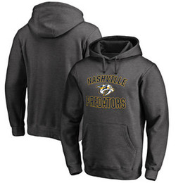 Chinese  Men Women Youth Kids Custom Nashville Predators Cheap Top Quality Embroidery Navy Red Yellow Grey Hockey Hoodies with Any Name & Any No. manufacturers
