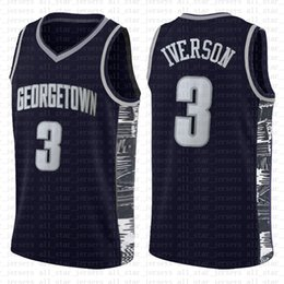 Allen Iverson 3 23 LeBron James 13 NCAA Basketball Jersey Harden Arizona State University Bethel Irish Lycée Maillots axewf en Solde
