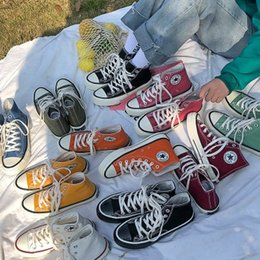 $enCountryForm.capitalKeyWord Australia - Canvas shoes men and women couple shoes tide Korea ulzzang casual shoes