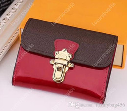 $enCountryForm.capitalKeyWord Australia - Classic embossed leather ladies short wallet clutch Famous designer girls canvas card purse Exquisite cosmetic bag line clear M61911