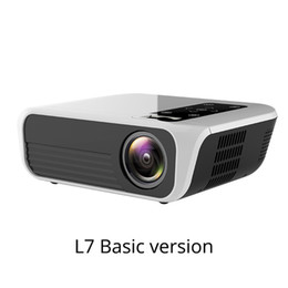 full hd led lcd NZ - Freeshipping L7 LED Native 1080P Projector full HD mini brands USB beamer 4500 Lumens Android 7.1 wifi Bluetooth Home cinema HDMI