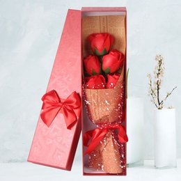 $enCountryForm.capitalKeyWord Australia - 5 Pieces Box Soap Rose Bouquet Gift Box Artificial Flower Rose Soap Flower Mother's Day Valentine's Day Gift Birthday Gift Rose Bouquet