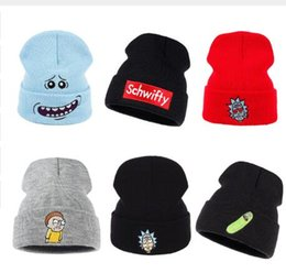 b46a0e383c368 Rick and Morty Winter Knitted Hats Rick Beanie Outdoor Skiing knit Hat  Skullies American Anime Cotton Pickle Rick Get Schwifty