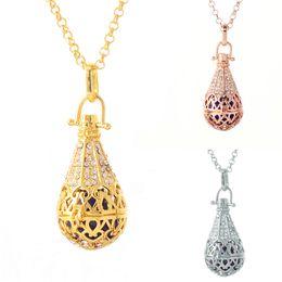 $enCountryForm.capitalKeyWord Australia - Waterdrop Locket Pendant Necklace Pregnancy Harmony Chime Ball Pendant Necklace 3 colors