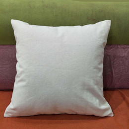 18x18 pillow cushion covers online shopping - 50pcs oz natural canvas pillow case x18 plain raw cotton embroidery blank pillow cover oz thick cotton canvas cushion cover