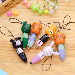 Stationery Australia - hot 300PC Cute Wood Cartoon Animal Ballpoint Pen Ballpen Stationery Kids Birthday Party Favor Gift Supplies