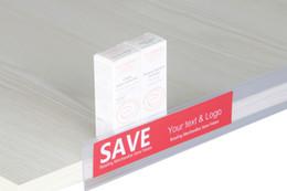 Name Clip Holders NZ - 2.2*20cm Data Strip Label Holder Shelf Edge Scanner Rail Tag Card Sign Frame Promotion Price Talker Self-adhesive Memo Name Card Sign Clip