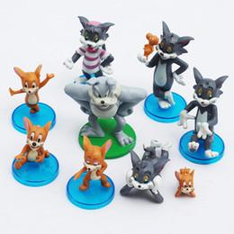 $enCountryForm.capitalKeyWord Australia - model toy 9pcs set Cartoon Tom and Jerry PVC Action Figure Model Toys Dolls Classic Toys Christmas Gifts 3~8cm Retail