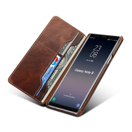 $enCountryForm.capitalKeyWord Australia - Solque Real Genuine Leather Flip Case For Samsung Galaxy Note 9 Mobile Phone Luxury Vintage Card Slots Stand Wallet Cover Cases T190710