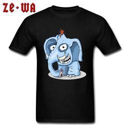 Smile Tee Australia - Funny Tops & Tees Elephant Smile T Shirts Men's Crew Neck Tshirts Summer Fall Clothes Short Sleeve Hip Hop Cotton Fabric T-shirt