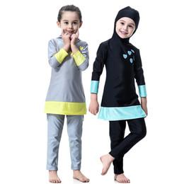 3e358f8ceee54 Muslim Swimwear Islamic Swimsuit Australia - 3 Piece Girls Muslim Full Body Swimsuit  Modest Swimwear Burkini