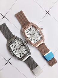$enCountryForm.capitalKeyWord Australia - 2019 New Gold Silver Top Brand Mens Watches Quartz Digital Display Bracelet Watches Clock For Man Women Stainless Steel Strap reloj mujer