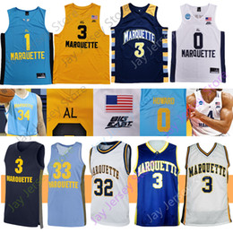 Discount eagles basketball jersey Marquette Golden Eagles Basketball Jersey NCAA College Howard McEwen Anim Elliott Theo John Cain Morrow Bailey Butler Cr