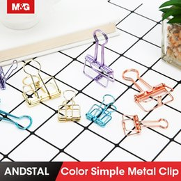$enCountryForm.capitalKeyWord Australia - 10PCS Cute Kawaii Colorful Metal Clip Paper Notes Clips for Photo Message Ticket File Office School Supplies Korean Stationery