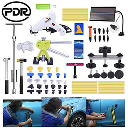 paintless dent repair tools glue Australia - PDR Dent Damage Repair Body Car Puller Board 65Pcs Glue Kit Tools Dings Hail Slide Line Gun Sets Paintless Lifter Hammer Door