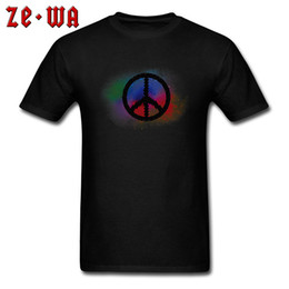 Wholesale hip hop art resale online - Pop T Shirts Men Peace Logo T shirt Hip Hop Art Tops Tees Graphic Cotton Clothes Minimalist Tshirt Short Sleeve Sweatshirts