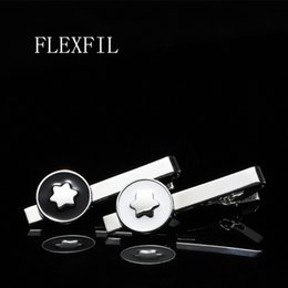 Wholesale FLEXFIL Men Tie Clip Stainless Steel Metal Tie Pin for Men Elegant Fashion Party Wedding Gifts Business stickpin Accessories