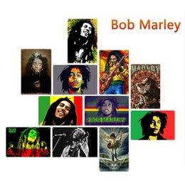 20 * 30 cm Bob Marley Rock Sänger Metallblechschilder Malerei Wandaufkleber Kunst Dekoration Eisen Malerei Plaque Wanddekorkunst Bilder im Angebot