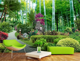 kitchen chinese Australia - Papel De Parede 3D Paisagem Custom Photo Wallpaper Chinese Style Garden Bamboo Forest Nature 3D Wall Murals Living Room Frescoes