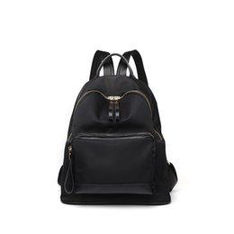 Styles Backpacks Australia - Women Backpack Genuine Leather Zipper Bag For Girl Summer Style Female Designer Backpack Bolsas Black 2019 New bolsas Large C792