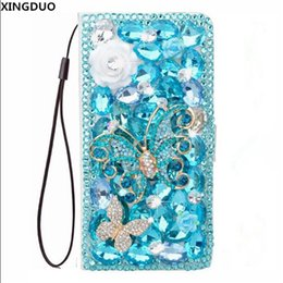 flower flip case for iphone 5s Australia - wholesale 3D Butterfly Flower Crystal Diamond Flip Leather Wallet Case Capa for iPhone XS MAX XR XS X 6 6S 7 8 Plus 5 5S SE shell