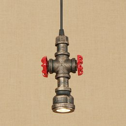 Water Pipe Art Australia - Retro industrial iron water pipe pendant light LED with 4 styles for living room restaurant bar cafe kitchen bed room hotel