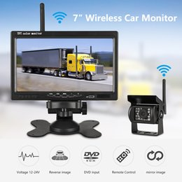 Car reverse parking Camera wireless online shopping - 7 quot Wireless Wired TFT LCD Car Monitor HD Display Reverse Camera Parking System For Car DVR Rearview Monitors For Truck work car