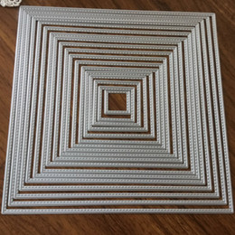 $enCountryForm.capitalKeyWord Australia - DIY Square Metal Cutting Dies for Scrapbooking 3D Steel Embossing Stamp Paper Card Craft Dies Making Photo Decoration Template