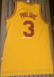 93c9a590529 Cheap wholesale Sasha Pavlovic  3 Jersey AD Gold Soul Sewn T-shirt vest  Stitched Basketball jerseys Ncaa