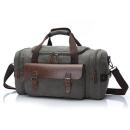 Multifunctional Men Travel Bags Large Capacity Women Luggage Duffle Bags  Vintage Leather Canvas Weekend Bags Shoulder Bag Bolsa 07e66f72b049b