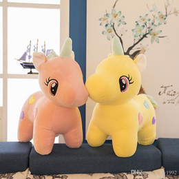 $enCountryForm.capitalKeyWord Australia - 2019 Kawaii Plush Toy Soft Unicorn Doll Appease Sleeping Pillow Kids Room Decor Toy For Children Pupil Christmas Present