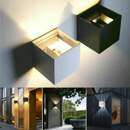 $enCountryForm.capitalKeyWord Australia - Brand New Modern 12W LED Wall Indoor Outdoor Sconce Lighting Lamp Fixture Garden Home Household Wall Lamp Nordic Style