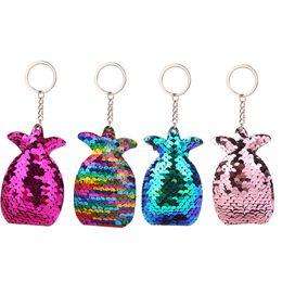 $enCountryForm.capitalKeyWord Australia - 4pcs Pineapple Key Chain for Handbag Tote Bag Cellphone Decor Car Key
