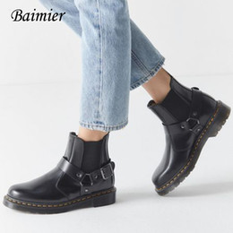 $enCountryForm.capitalKeyWord Australia - 2019 Boots women Genuine Leather Shoes Winter Ankle Boots For Women Motocycle Platform Plus Size