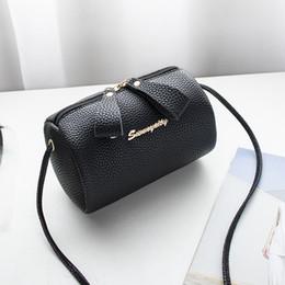 $enCountryForm.capitalKeyWord Australia - women handbag small purse bucket bag small cell phone shoulder bag cute solid barrel-shaped fashion cross body zipper bags