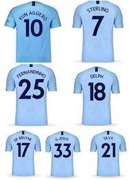Discount jersey thai quality - Custom Need Name 18-19 Thai Quality De bruyne 17 Soccer Jerseys Shirts, Personality Kun Agüero 10 Jerseys,Sterling 7 Tra